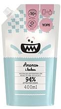 Parfums et Produits cosmétiques Savon liquide antibactérien pour mains, Ananas et Noix de coco (recharge) - Yope
