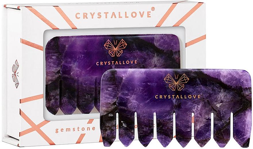Peigne de massage du cuir chevelu en améthyste - Crystallove — Photo N1