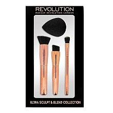 Parfums et Produits cosmétiques Kit (pinceaux de maquillage, 3 pcs. + éponge) - Makeup Revolution Ultra Sculpt & Blend Sponge Brush Collection