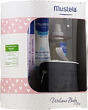 Parfums et Produits cosmétiques Coffret cadeau - Mustela Welcome Baby Set Pink (b/gel/200ml + b/cr/50ml + b/oil/100ml + case)