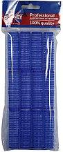 Parfums et Produits cosmétiques Rouleaux à cheveux 16/63, bleu - Ronney Professional Velcro Roller