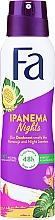 Parfums et Produits cosmétiques Déodorant spray sans sel d'aluminium à l'extrait de grenadille - Fa Ipanema Nights Deo Spray