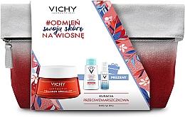 Parfums et Produits cosmétiques Vichy Liftactiv - Coffret (sérum pour visage/10ml + eau micellaire/100ml + crème pour visage/50ml + trousse de toilette)
