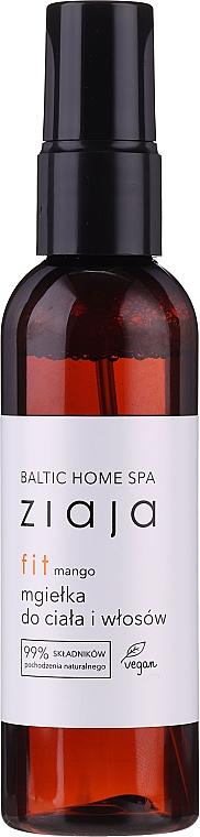 Brume pour corps et cheveux, Mangue - Ziaja Baltic Home Spa FIT Mango Body and Hair Mist