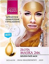 Parfums et Produits cosmétiques Masque tissu Or 24 au collagène et acide hyaluronique pour visage - Czyste Piekno Gold Face Mask