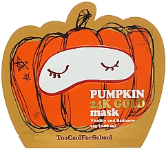 Parfums et Produits cosmétiques Masque à l'extrait de citrouille pour visage - Too Cool For School Pumpkin 24k Gold Mask