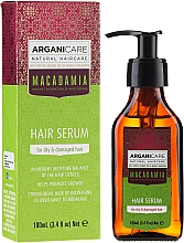 Parfums et Produits cosmétiques Sérum à l'huile de macadamia bio pour cheveux - Arganicare Macadamia Hair Serum for Dry & Damaged Hair