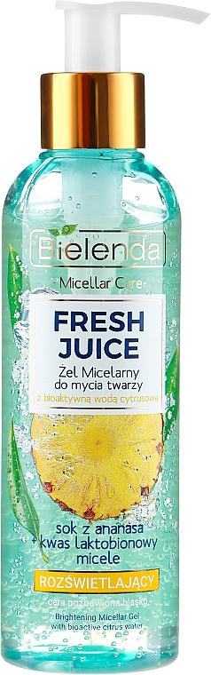 Bielenda Fresh Juice Micellar Gel Pineapple - Solution micellaire éclaircissante au jus d'ananas pour visage