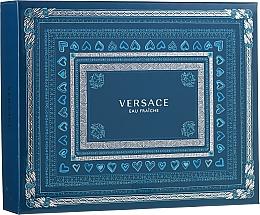 Parfums et Produits cosmétiques Versace Man Eau Fraiche - Coffret (eau de toilette/50ml + gel bain et douche/50ml + baume après-rasage/50ml)