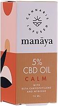Parfums et Produits cosmétiques Huile de chanvre - Manaya 5 % CBD Oil Calm