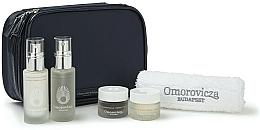 Parfums et Produits cosmétiques Omorovicza Essentials - Coffret soin visage (tonique/30ml + baume/15 ml + crèmes 2pcs/15ml + serviette + trousse de toilette)