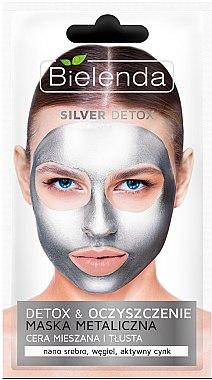Masque métallique détoxifiant pour visage - Bielenda Silver Detox Metallic Mask