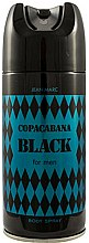 Parfums et Produits cosmétiques Déodorant spray pour corps - Jean Marc Copacabana Black For Men