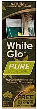 Parfums et Produits cosmétiques White Glo Pure & Natural - Set (dentifrice/85ml + brosse à dents en bambou/1)