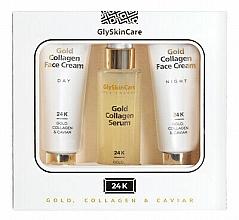 Parfums et Produits cosmétiques Coffret cadeau - GlySkinCare Gold Collagen (cr/2x50ml + serum/50ml)