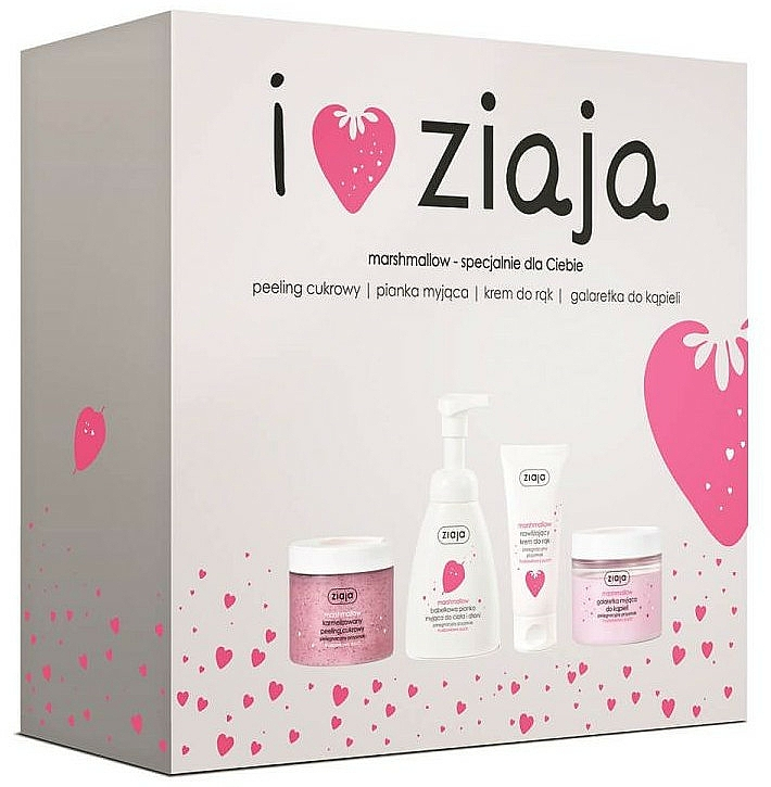 Coffret cadeau - Ziaja I Love Ziaja Marshmallow (b/peeling/300ml + h/cr/50ml + shower/gel/260ml + b/foam/250ml)