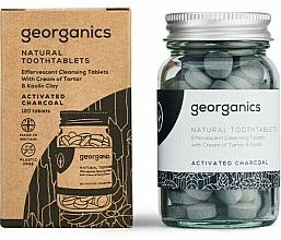 Parfums et Produits cosmétiques Comprimés de nettoyage des dents au charbon actif - Georganics Natural Toothtablets Activated Charcoal