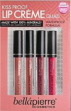 Parfums et Produits cosmétiques Kit de 4 rouges à lèvres crème - Bellapierre Kiss Proof Lip Creme Quad (4x3.8)