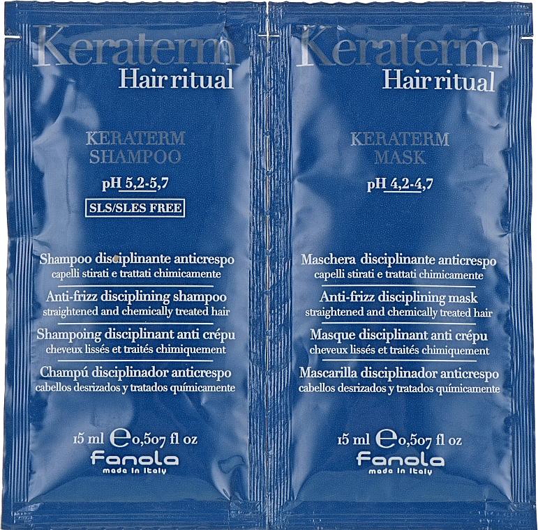 Fanola Keraterm - Set (shampooing/15ml + masque/15ml)