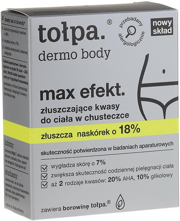 Lingettes exfoliantes au complexe d'acides pour corps - Tolpa Dermo Body