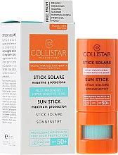 Parfums et Produits cosmétiques Stick solaire pour peaux sensibles - Collistar Sun Stick SPF 50+