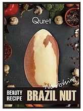 Parfums et Produits cosmétiques Masque tissu à l'extrait de noix du Brésil pour visage - Quret Beauty Recipe Mask Brazil Nut Nourishing