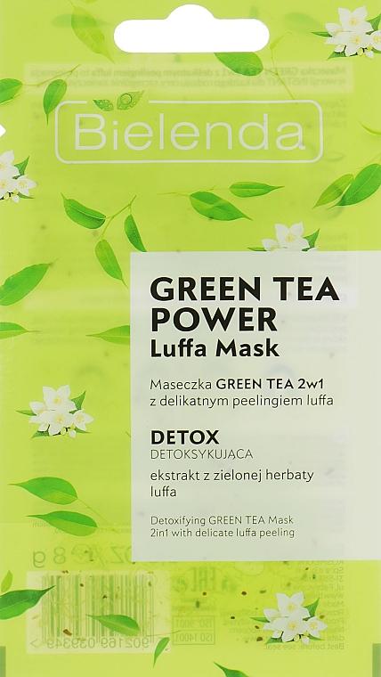 Masque au thé vert pour visage - Bielenda Green Tea Power Luffa Mask 2in1