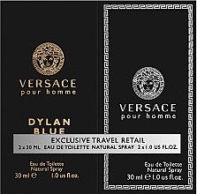 Parfums et Produits cosmétiques Versace Dylan Blue Pour Homme - Coffet (eau de toilette/30ml + eau de toilette/30ml)