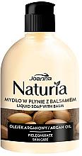Parfums et Produits cosmétiques Savon liquide avec lotion à l'huile d'argan tapa abatible - Joanna Naturia Argan Oil Liquid Soap