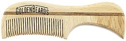 Parfums et Produits cosmétiques Peigne à moustache en bois écologique, 7,5 cm - Golden Beards Eco Moustache Comb