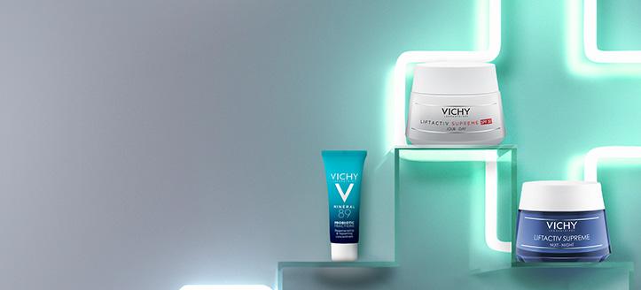 Recevrez MINÉRAL 89 PROBIOTIC FRACTIONS 10 ml  lors de l'achat de dermocosmétiques promotionnels pour le visage Vichy