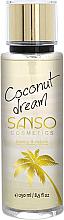 Parfums et Produits cosmétiques Brume parfumée pour corps, Rêve de noix de coco - Sanso Cosmetics Coconut Dream Body Spray