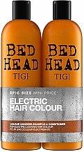 Parfums et Produits cosmétiques Tigi Bed Head Colour Godess - Set aux extraits végétaux (shampooing/750ml + après-shampooing/750ml)