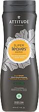 Parfums et Produits cosmétiques Shampooing et gel douche naturel à l'huile de graines de raisin - Attitude 2-in-1 Sport Care Ginseng & Grape Seed Oil