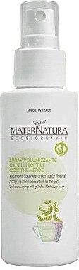 Spray volumateur au thé vert pour cheveux - MaterNatura Volume Spray with Green Tea — Photo N1