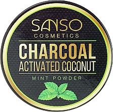 Parfums et Produits cosmétiques Poudre dentaire à l'huile de menthe et charbon actif de coco - Sanso Cosmetics Charcoal Activated Coconut Mint Powder