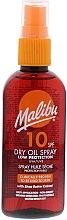 Parfums et Produits cosmétiques Huile sèche solaire au beurre de karité pour corps - Malibu Dry Oil Spray Low Protection Very Water Resistant SPF 10