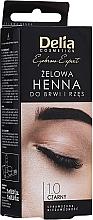 Parfums et Produits cosmétiques Teinture gel sourcils et cils, noire - Delia Eyebrow Tint Gel ProColor 1.0 Black