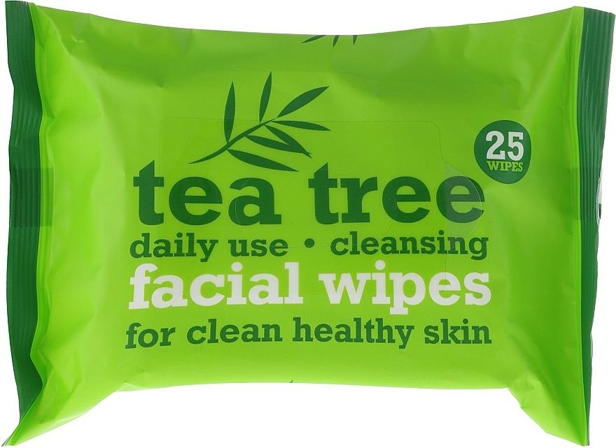 Lingettes nettoyantes humides pour visage, 25 pcs - Xpel Marketing Ltd Tea Tree Facial Wipes For Clean Healthy Skin