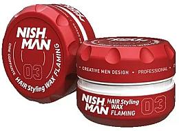 Parfums et Produits cosmétiques Cire coiffante - Nishman Hair Styling Wax 03 Flaming