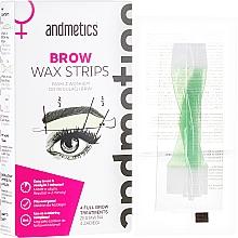 Parfums et Produits cosmétiques Bandes de cire pour sourcils - Andmetics Brow Wax Strips Women (bandes de cire /4x2pc + bandes de cire/4x2pc + lingettes apaisantes/4pc)