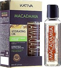 Parfums et Produits cosmétiques Huile à l'huile de macadamia pour cheveux - Kativa Macadamia Hydrating Oil