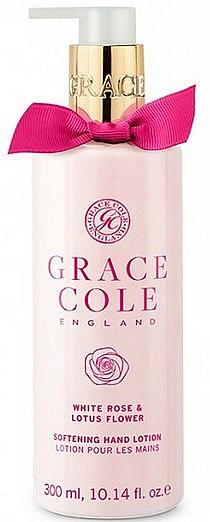Lotion nourrissante pour mains, Rose blanche et Lotus - Grace Cole White Rose & Lotus Flower Hand Lotion