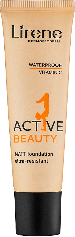 Fond de teint matifiant waterproof - Lirene Active Beauty Matt Foundation Ultra-Resistant