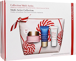 Parfums et Produits cosmétiques Coffret cadeau - Clarins Multi-Active Christmas Set (day/cream/50ml + night/cream/15ml+balm/15ml+bag)