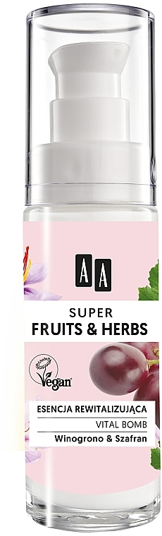 Essence au beurre de karité pour visage - AA Super Fruits & Herbs Vital Bomb — Photo N2