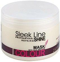 Parfums et Produits cosmétiques Masque aux protéines de soie pour cheveux - Stapiz Sleek Line Colour Mask