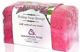 Parfums et Produits cosmétiques Éponge exfoliant à l'eau de rose bulgare - Bulgarian Rose Peeling Soap-Sponge