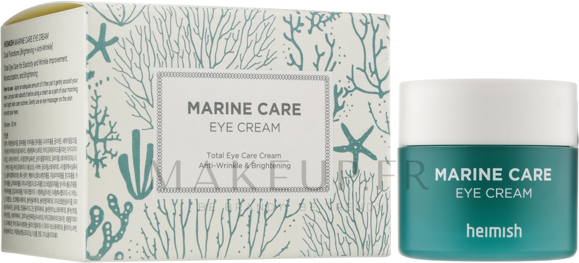 Crème hydratante contour des yeux - Heimish Marine Care Eye Cream — Photo 30 ml