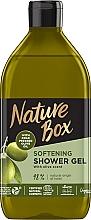 Parfums et Produits cosmétiques Gel douche à l'huile d'olive pressée à froid - Nature Box Softening Shower Gel With Cold Pressed Olive Oil